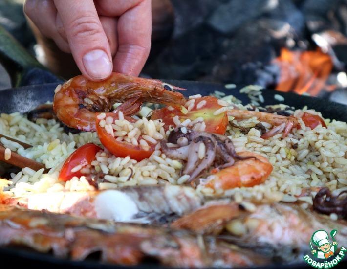 Рецепт: Рис с морепродуктами