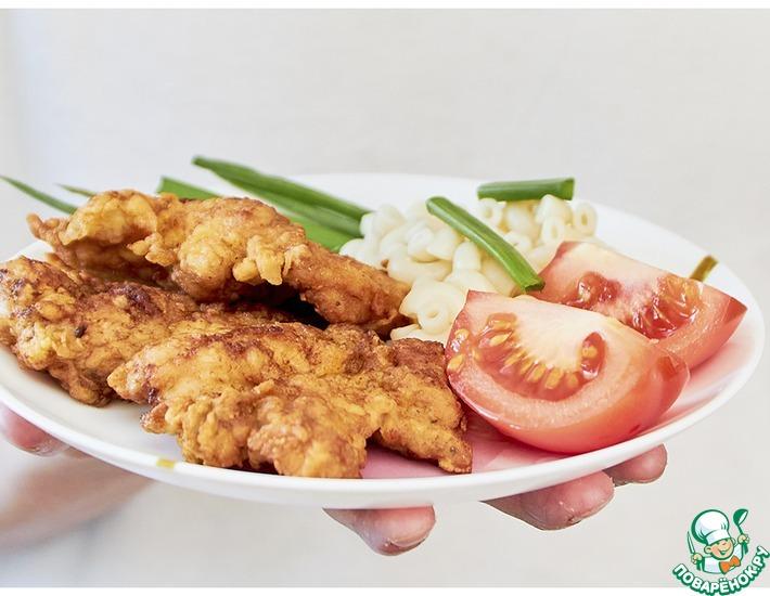 Рецепт: Отбивные из куриного бедра в яйце