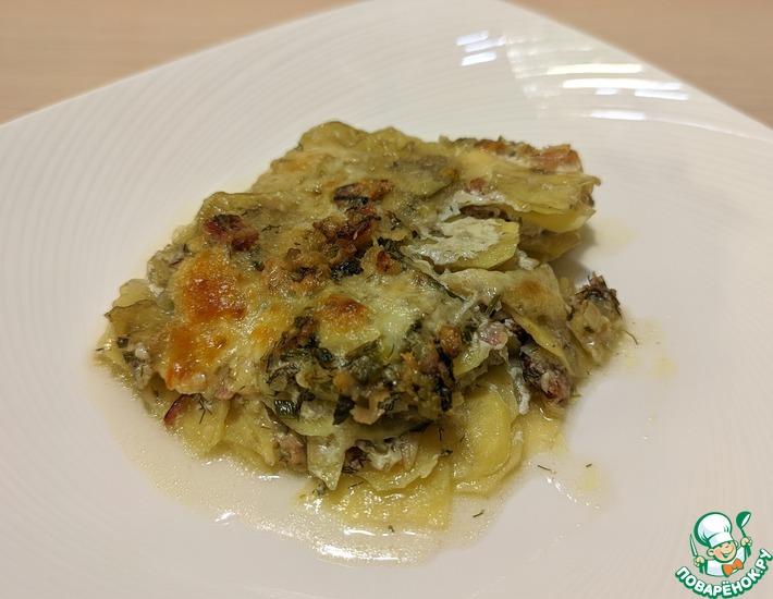 Рецепт: Картофель с сыром и беконом