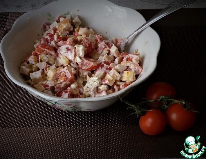 Рецепт: Салат с копчёной курицей