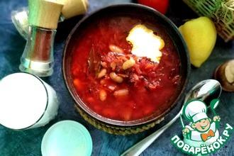 Рецепт: Свекольный суп с фасолью