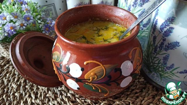 Молочно-грибной суп с кабачком