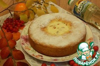 Рецепт: Пирог с творожной начинкой Нежность