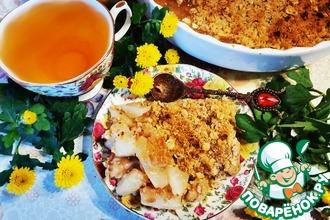 Рецепт: Грушевый крамбл с овсянкой и мёдом