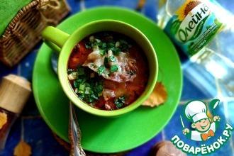 Рецепт: Овощной суп с перловой крупой