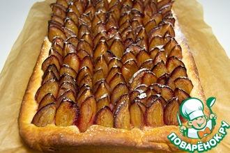 Рецепт: Аугсбургский сливовый пирог Пфлауменкухен