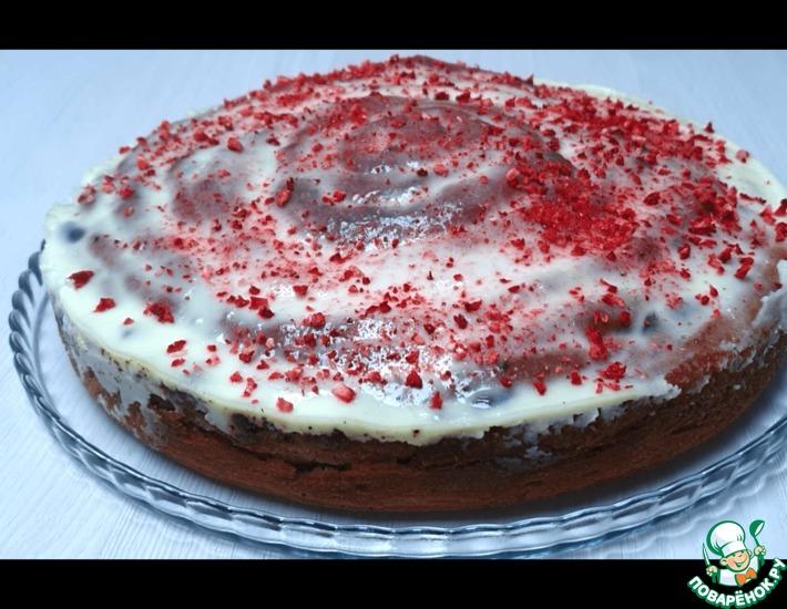 Рецепт: Пирог с клюквой и сметанной заливкой