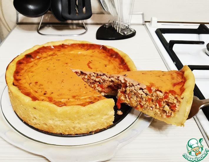 Рецепт: Пирог из картофельного теста с мясом