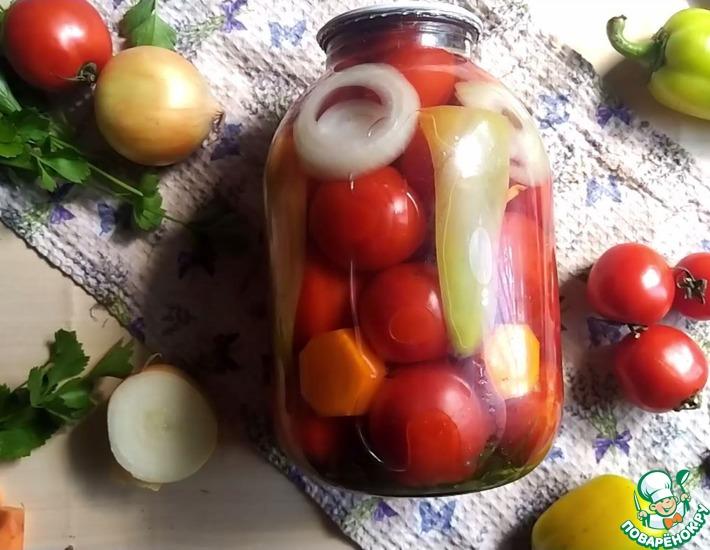 Рецепт: Консервированные помидоры на зиму