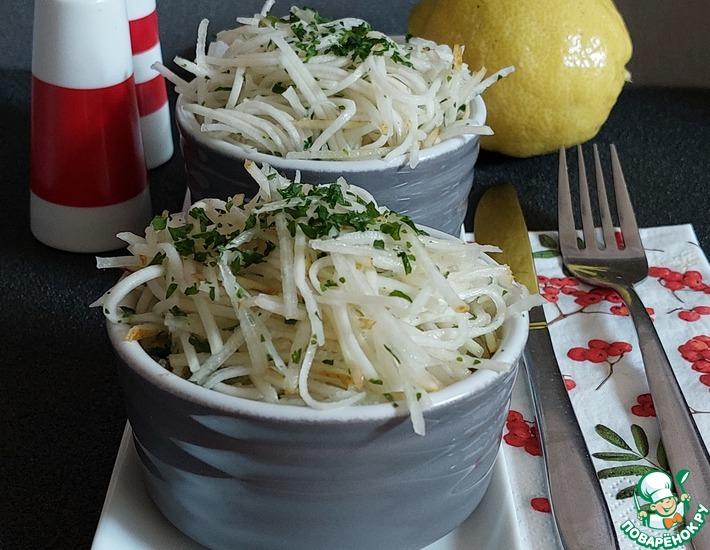 Рецепт: Салат из кольраби и груши