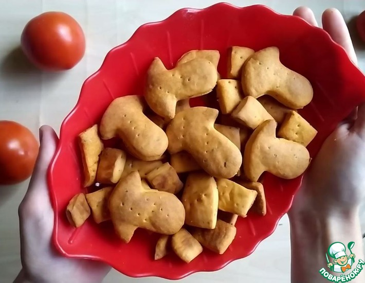 Рецепт: Крекеры томатные