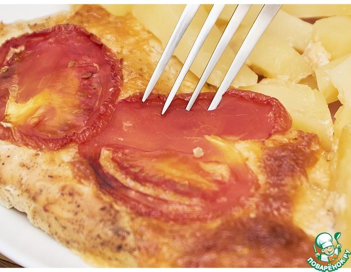 Рецепт: Отбивные на сырно-картофельной подушке