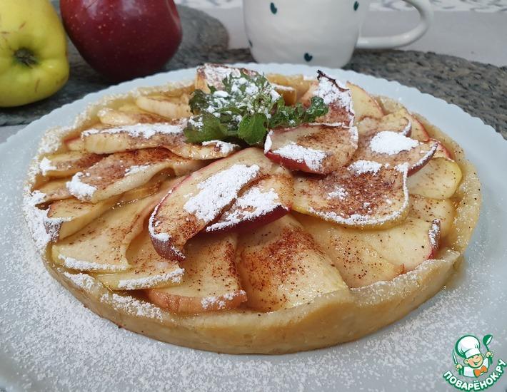 Рецепт: Яблочный торт по-французски