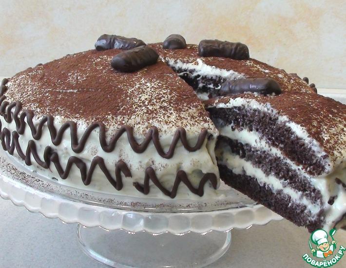Рецепт: Шоколадный Торт Капучино