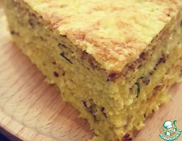 Рецепт: Закусочный торт из капусты и курицы