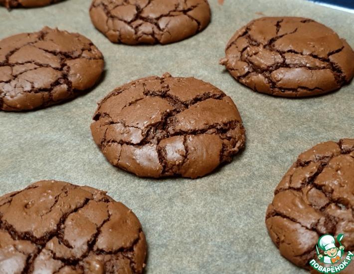 Рецепт: Шоколадное печенье Брауни