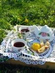 Чаепитие весенним утром