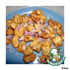 Рецепт: Жареные кальмары