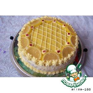 Торт медово-лимонный