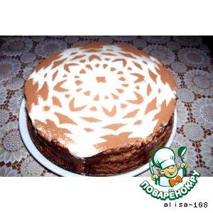 Торт кокосовый с шоколадным суфле