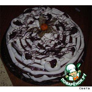 """Бисквитный торт """"Черно-белое"""""""
