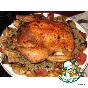 Рецепт: Курица с черносливом и рисом
