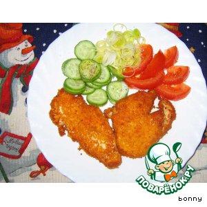 Рецепт: Грудки куриные в острой панировке