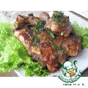 Рецепт: Свиные ребра в медово-имбирной глазури