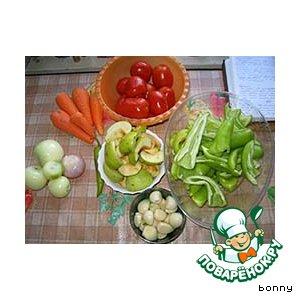 Рецепт: Икра овощная  типа аджики