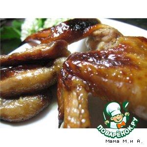 Рецепт: Куриные крылышки по-китайски