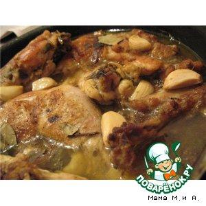 Рецепт: Курица и 40 зубчиков чеснока