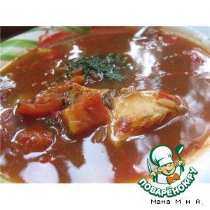 Рецепт: Острый томатный суп