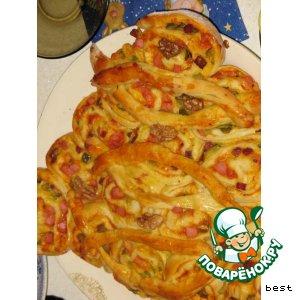 Рецепт: Пицца Елочка