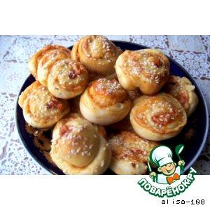 Сырные булочки с кетчупом