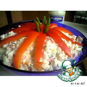 Рецепт: Салат из куриного филе с фасолью
