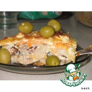 Рецепт: Рыбный торт