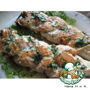 Рецепт: Рыбная косичка