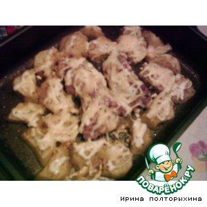 Рецепт: Пряный картофель с курицей