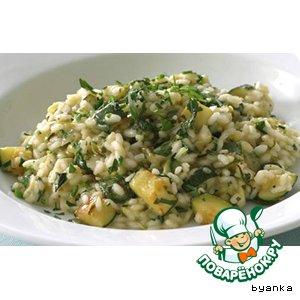 Рецепт: Тушеные кабачки с рисом