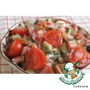 Рецепт: Салат с орехами Весенний
