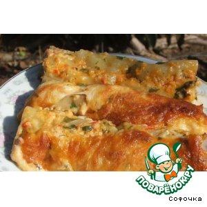 Рецепт: Каннеллони с мясом под соусом