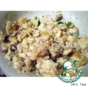 Рецепт: Салат фасолевый с сухариками