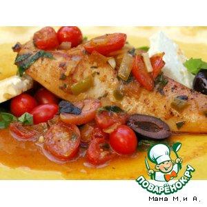 Рецепт: Куриное филе по-гречески