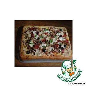 Рецепт: Пицца с оливками и моцареллой