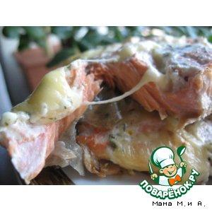 Рецепт: Рыбное филе с сырными кармашками