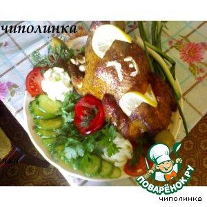 Рецепт: Жареная курица
