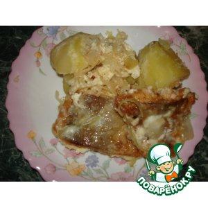 Жареный лосось в яйце