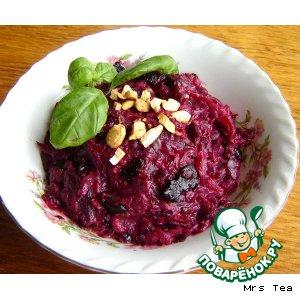 Рецепт Салат из свеклы с черносливом и миндалем
