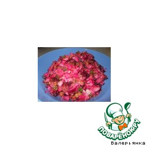 Рецепт Винегрет с фасолью и грибами