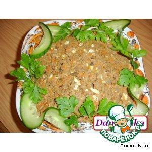 Рецепт: Салат «Печеночный деликатес»